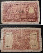 LIRE - REPUBBLICA ITALIANA - 100 CENTO LIRE - BIGLIETTO DI STATO A CORSO LEGALE