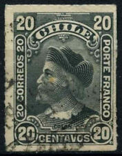 Chile 1900-1 SG#79, 20c Grey, Christopher Columbus Used #D37512