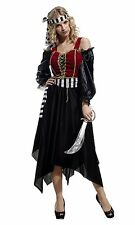Ladies Pirate Wench Buccaneer Halloween Party Outfit Womens Fancy Dress Costume