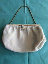 Vintage White Beaded Dofan Evening Bridal Bag Purse France