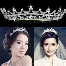Wedding Bridal Princess Austrian Stunning Crystal Hair Tiara Crown Veil Headband