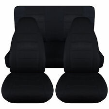 Jeep wrangler YJ  solid black  front+rear car seat covers,MORE COLORS&ITEMS AVBL