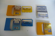 LOT K7 AUDIO TAPE AGFA FERRO COLOR COLOR-CODE 3X3 + TDK HEAD CLEANER HC-1.