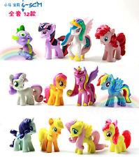 12pcs/set My Little Pony Cake Toppers Cartoon Action Figures Toys Set 4-5cm CA