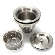 New Stainless Steel Sink Strainer Stopper Kitchen Waste Plug Basin Drain Filter