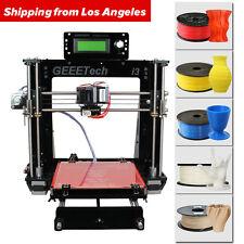 US Seller Prusa I3 Reprap 3D Printer support 5 filament MK8 Unassembled LCD2004