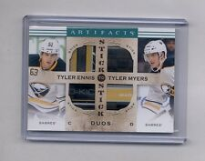 2014-15 artifacts stick to stick Duos Tyler Ennis & Tyler Myers Dual Logo Stick