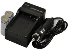 new 2 Battery + Charger NB-9L NB9L For PowerShot ELPH 510 HS 520 SD4500 IS IXY 3