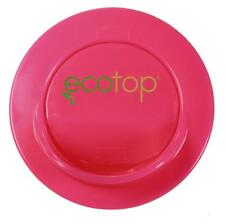 "EcoTop PINK 3"" in. Lid Top Cup Coffee Travel Mug Cover Eco-Friendly Leak Free"