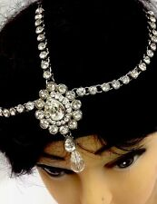 New Bollywood Indian Costume Jewellery  Head Piece Matha Patti In Silver