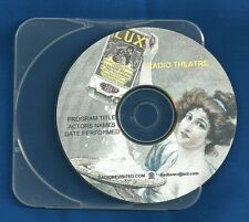 CHRISTMAS HOLIDAY William Holden Loretta Young OTR CD Lux Radio Show Drama +case