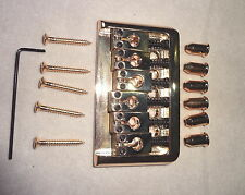 HARD TAIL GOLD BRIDGE by MIGHTY MITE for Electric Guitar Heavy Duty