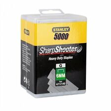 5000 Heavy Duty 6mm STANLEY Sharpshooter Staples 1-tra704 - 5t per 0tre550 PISTOLA