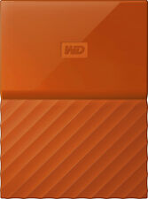 WD - My Passport 4TB External USB 3.0 Portable Hard Drive - Orange