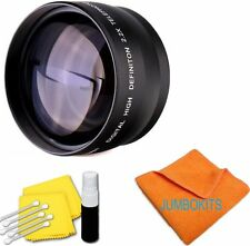 HD 2.2X TELEPHOTO ZOOM LENS FOR Canon EOS Rebel T5 with 18-55mm /75-300mm LENS
