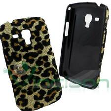 Custodia LEOPARDATA per Samsung Galaxy Trend Plus s7580 cover BRILLANTINI rigida