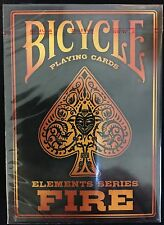 Fire Elements Series Deck Bicycle Playing Cards Poker Size USPCC Custom Limited