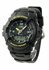 Casio G100-9C Men's G-Shock Ana-Digi Dual Time Black Resin Watch NEW