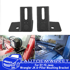 For 07-15 Jeep Wrangler JK A-Pillar Mounting Brackets for Offroad Lights/LED Bar
