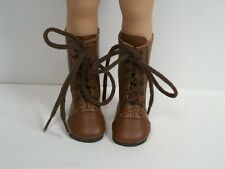 "BROWN LaceUp Boots Doll Shoes For Dianna Effner 13"" Little Darling Vinyl (Debs)"