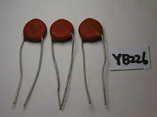 VINTAGE ELECTRONIC CAPACITOR NOS LOT OF 3 SPRAGUE CERAMIC DISC 6 KV 200 M