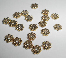 20 BALI 14K GOLD VERMEIL DAISY SPACER BEADS 4MM DIAMETER JEWELLERY FINDINGS NEW