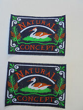 "2 Flicken Applikationen Patches  zum  aufnähen ""Natural Concept "" 9 x 7 cm  neu"
