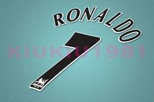 Manchester United Ronaldo #7 PREMIER LEAGUE 97-06 Black Name/Number Set