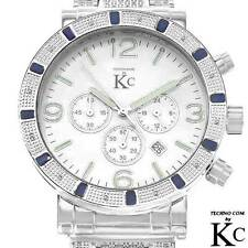 TECHNO COM by KC Men's NEW Chronograph Date Watch w/ Genuine Diamonds - 1.0 cwt