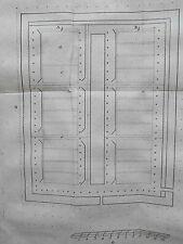 Plan jardin potager Gravure originale les Agréments de la Campagne XVIIIéme
