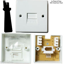 BT Extension Telephone Wall Socket - IDC Terminal - Slave/Secondary Outlet Plate
