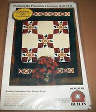 LONE STAR QUILT PATTERN 546 POINTSETTIA PASSION CHRISTMAS QUILT 2003 48X62