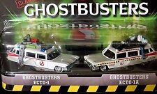 Hot Wheels RETRO ENTERTAINMENT GHOSTBUSTERS ECTO-1 & ECTO-1A Two Pack