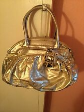 New Beautiful Designer Juicy Couture Gold Leather With Jewel Charm Bag-£550!