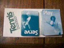 55 Play & 27 Serve cards from TENNIS The Smashing Card Game by Parker Brothers