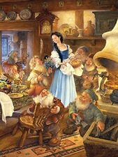 Jigsaw puzzle Entertainment Fairy Tale Book Snow White 7 Dwarves 300 piece NEW