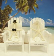 PERSONALIZED Adirondack Chair Wedding Real Starfish Beach Cake Topper-Reception
