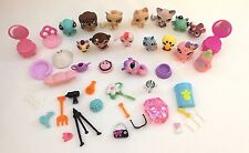 Lot of Little petshop animals LITTLEST Pet shop Accessories Cat Dog Frog Monkey