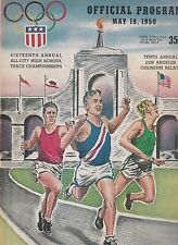 COLISEUM RELAYS 1950 PROGRAM