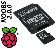 16gb Raspberry Pi/Pi 2 SD/MicroSD Memory Card Preinstalled NOOBS 2.0.0 Kingston