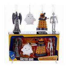 Doctor WHO Licensed 4pc Mini VILLAINS Holiday ORNAMENT SET Adipose DALEK Adler
