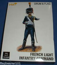 DAMAGED BOX!!! HAT 9305 - NAPOLEONIC FRENCH LIGHT INFANTRY COMMAND. 1/32 SCALE