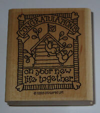Congratulations On Your New Life Together Rubber Stamp Wedding Stampin' Up! Bird