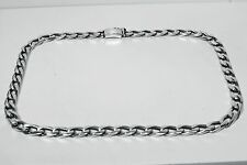 Chain Gents Metric Figaro 1x1 150gr Sterling Solid 925 Silver  Man Men Gents