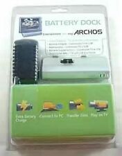 2 New ARCHOS BATTERY DOCK 500977 FOR 405 & 605 WiFi Players TV USB Connections