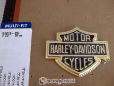 Harley Davidson Bar & Shield Gold Emblem Medallion Sissy Bar Koffer 91816-85