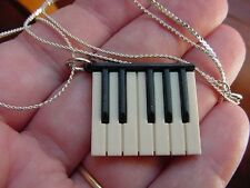 (M-322-C) little mini Piano Keys KEYBOARD necklace pendant JEWELRY key pianos