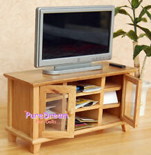 1:12 Dollhouse Miniature Wooden TV Cabinet/Stand/ Bench & TV 2PCS
