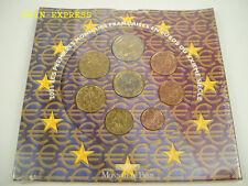 *** Euro KMS Francia 2001 BU corso monete frase France Coin Set Monete ***