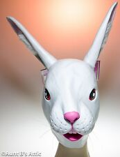 Mask Bunny Rabbit Full Over The Head Latex Easter Halloween Dress Up Mask